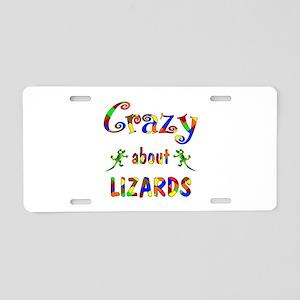 Crazy About Lizards Aluminum License Plate