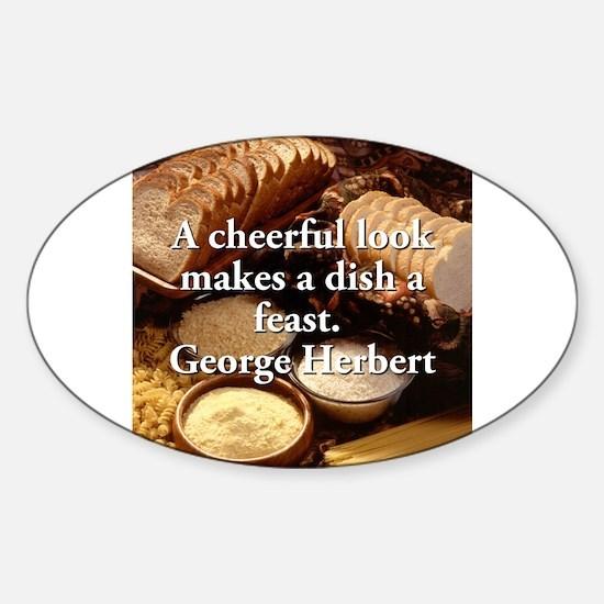 A Cheerful Look - George Herbert Sticker (Oval)