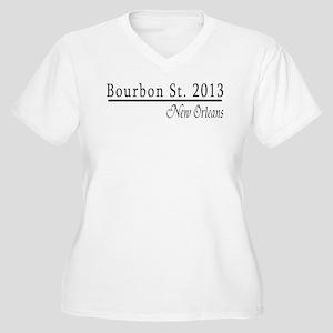 Mardi Gras 2012 Bourbon Street Women's Plus Size V