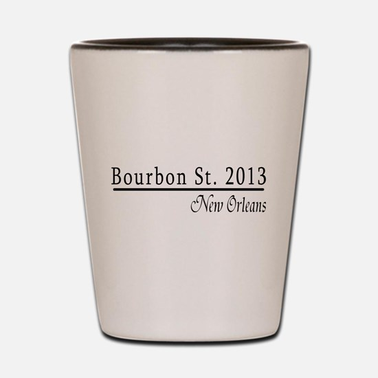 Mardi Gras 2012 Bourbon Street Shot Glass