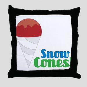 Snow Cones Throw Pillow