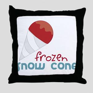 Frozen Snow Cone Throw Pillow