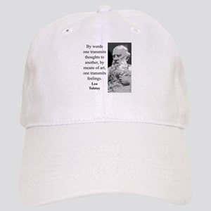 By Words One Transmits - Leo Tolstoy Baseball Cap