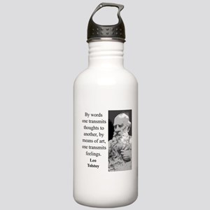 By Words One Transmits - Leo Tolstoy Water Bottle