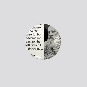 Condemn Me If You Choose - Leo Tolstoy Mini Button