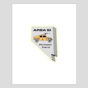 Area 51 Perimeter Patrol Small Poster