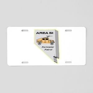 Area 51 Perimeter Patrol Aluminum License Plate