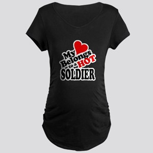 My Heart Belongs to a HOT Soldier! Maternity Dark