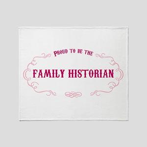 Family Historian Throw Blanket