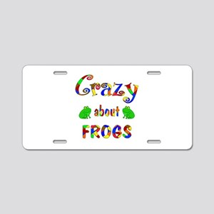 Crazy About Frogs Aluminum License Plate