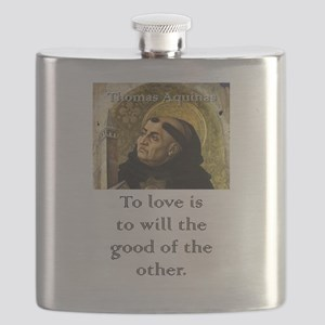To Love Is To Will - Thomas Aquinas Flask