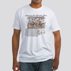 """""""Cherokee Rose Legend"""" Fitted T-Shirt"""