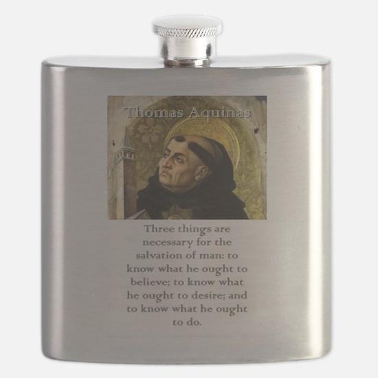 Three Things Are Necessary - Thomas Aquinas Flask