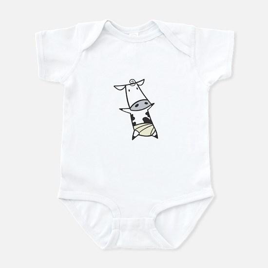 Baby Cow in Diaper Infant Bodysuit