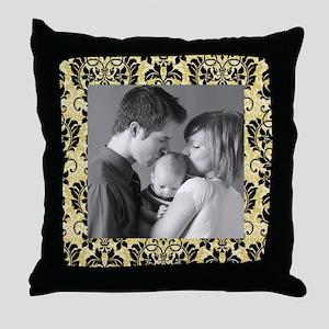 Custom Photo/ Damask Throw Pillow