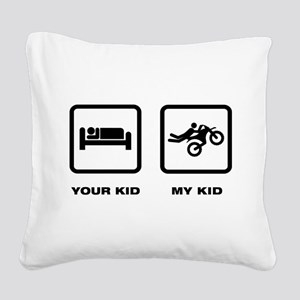 Motocross Square Canvas Pillow