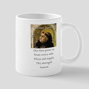 Our Foes Press On - Thomas Aquinas 11 oz Ceramic M