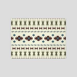 Native American Indian boho ethnic 5'x7'Area Rug
