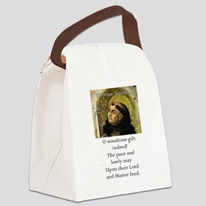 O Wondrous Gift Indeed - Thomas Aquinas Canvas Lun