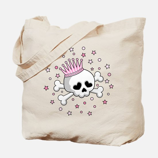 Cute Princess Skull Tote Bag
