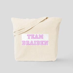 Pink team Braiden Tote Bag