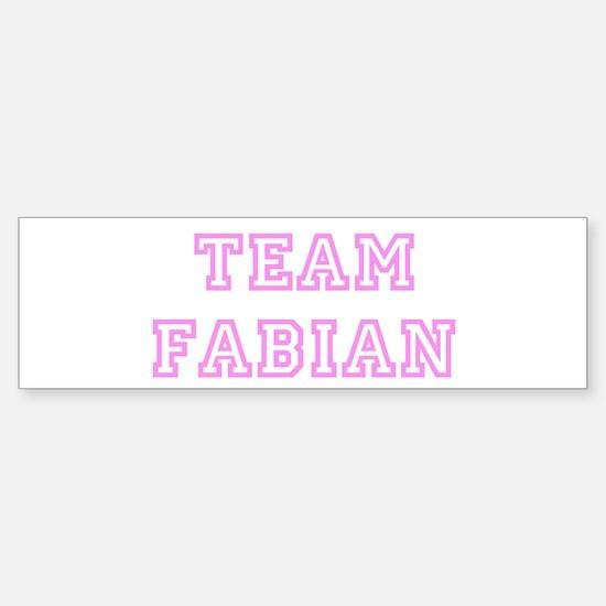 Pink team Fabian Bumper Bumper Bumper Sticker