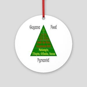 Guyana Food Pyramid Ornament (Round)