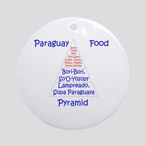 Paraguay Food Pyramid Ornament (Round)