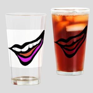 Smile Digital Design Drinking Glass