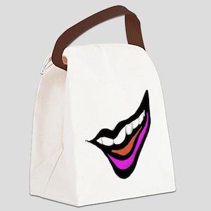 Smile Digital Design Canvas Lunch Bag