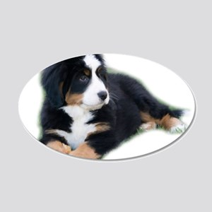 bernese-mountain-puppy_ 20x12 Oval Wall Decal
