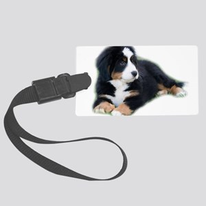 bernese-mountain-puppy_ Large Luggage Tag