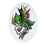 Mardi Gras - New Orleans Style Ornament (Oval)