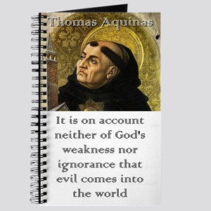 It Is On Account - Thomas Aquinas Journal