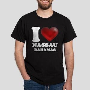 I Heart Nassau Bahamas Dark T-Shirt