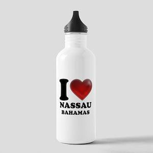 I Heart Nassau Bahamas Stainless Water Bottle 1.0L