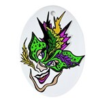 New Orleans Party Mask Ornament (Oval)