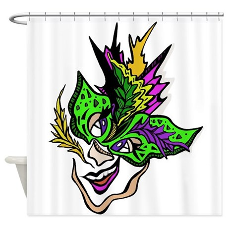 New Orleans Party Mask Shower Curtain