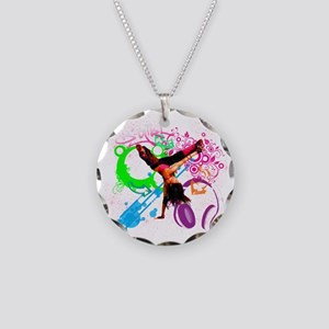 B-Girl Necklace Circle Charm