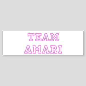 Pink team Amari Bumper Sticker