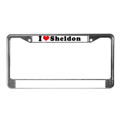 Sheldon License Plate Frame