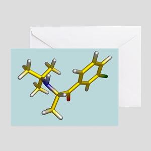 Bupropion drug molecule - Greeting Cards (Pk of 20