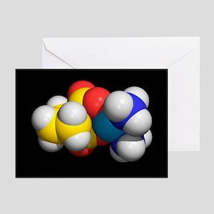 Carboplatin molecule, cancer drug - Greeting Cards