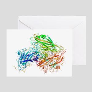 Human rhinovirus capsid proteins - Greeting Cards
