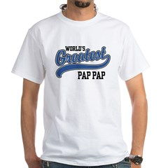 World's Greatest Pap Pap White T-Shirt
