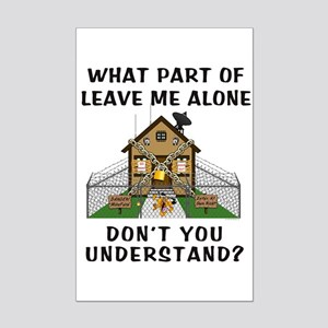 Leave Me Alone Mini Poster Print
