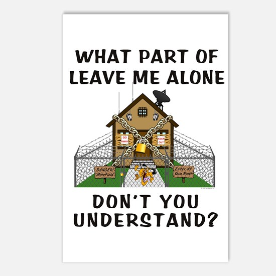 Leave Me Alone Postcards (Package of 8)
