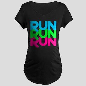 Run Run Run Maternity Dark T-Shirt
