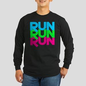 Run Run Run Long Sleeve Dark T-Shirt