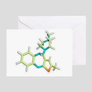 Olanzapine antipsychotic drug molecule - Greeting
